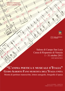 L'anima poetica e musicale d'Italia: Guido Alberto Fano musicista dell'Italia unita