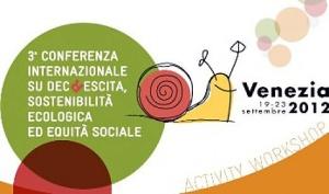 Conferenza Internazionale sulla Decrescita a Venezia