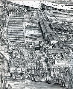 Navi, squeri, traghetti da Jacopo de' Barbari