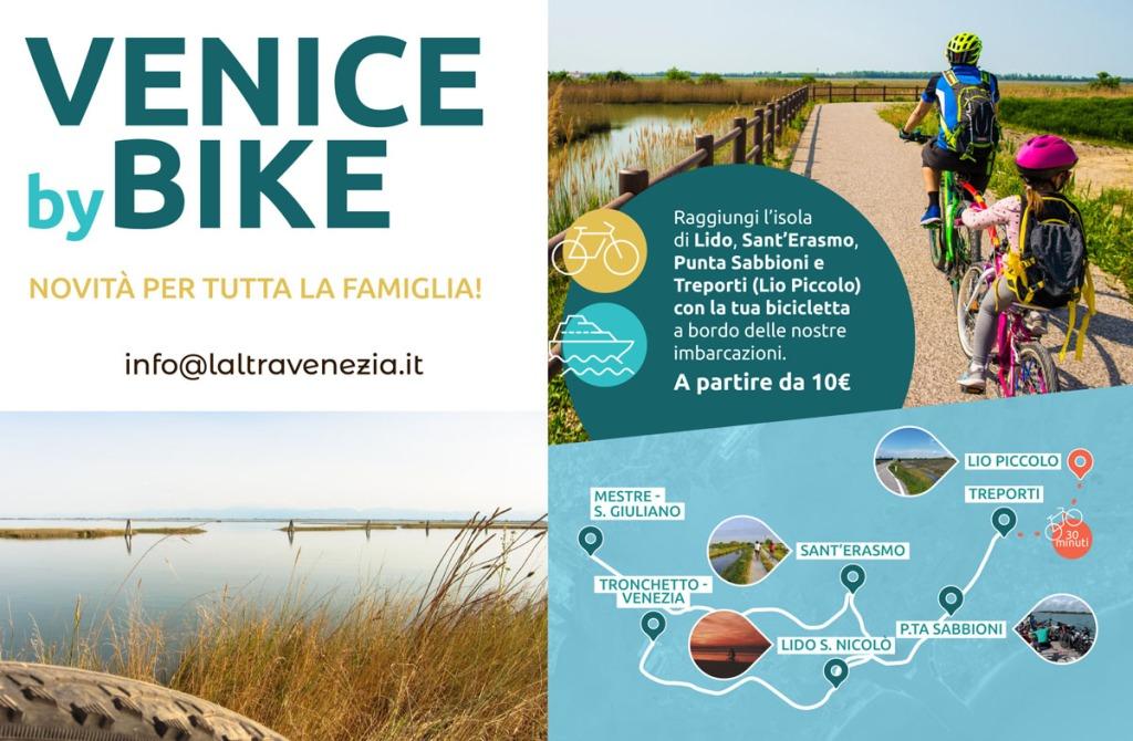 Tour barca e bici a Venezia